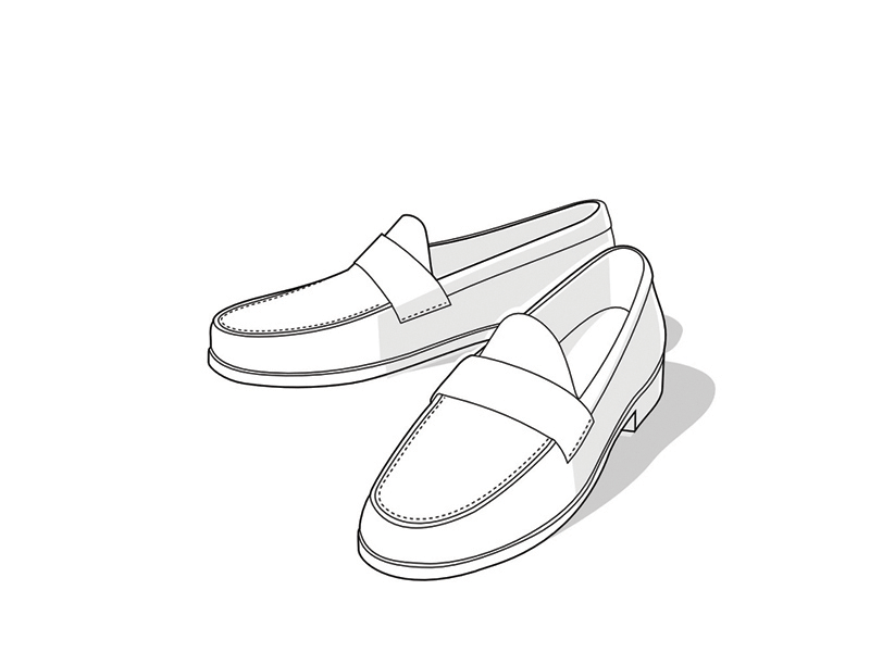 Comfortable slip-ons, but decidedly less elegant than lace-up shoes. Usually made of soft skins and worn in the summer with lightweight casual clothing. Sometimes, following the Anglo-Saxon tradition, loafers are made of thicker leather for year-round use.