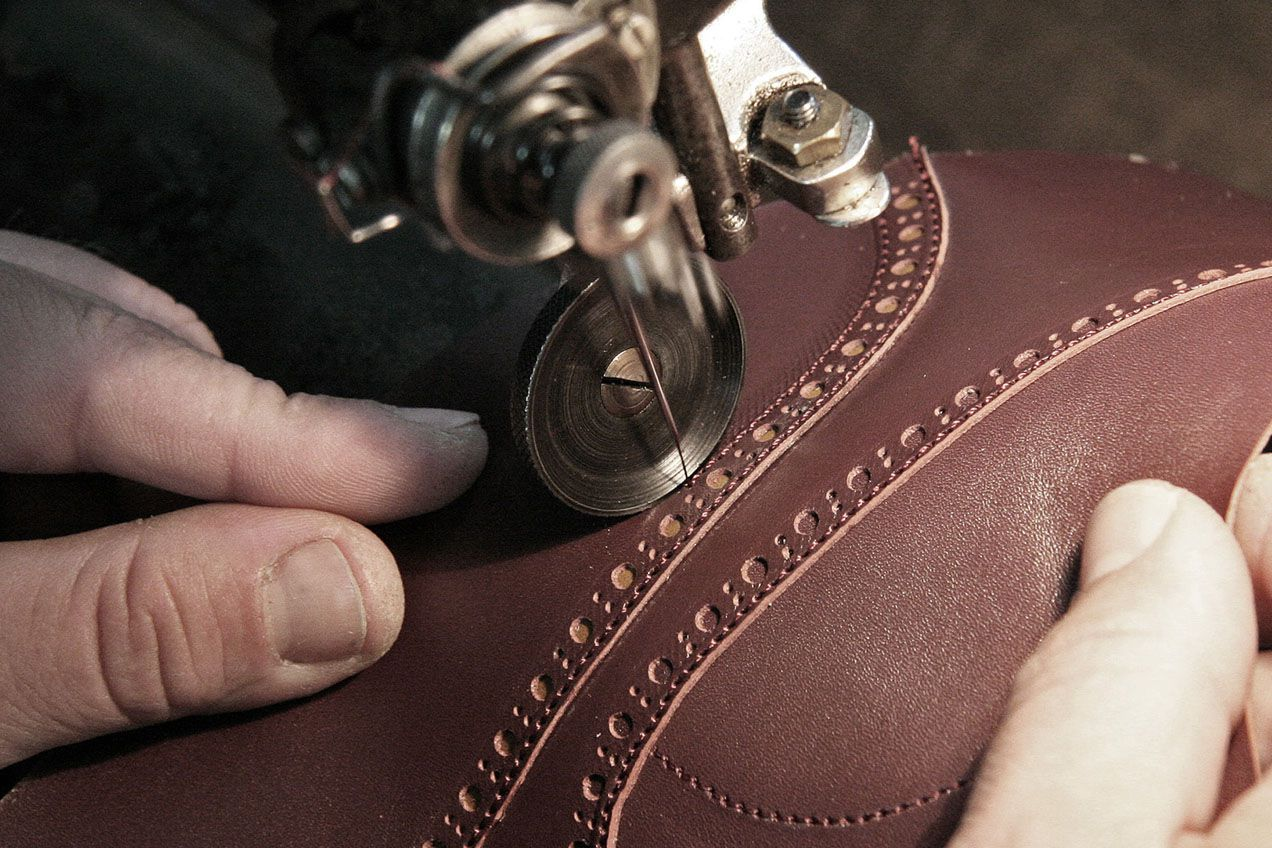 Sewing the uppers