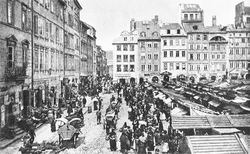 Warsaw, a 1885 picture