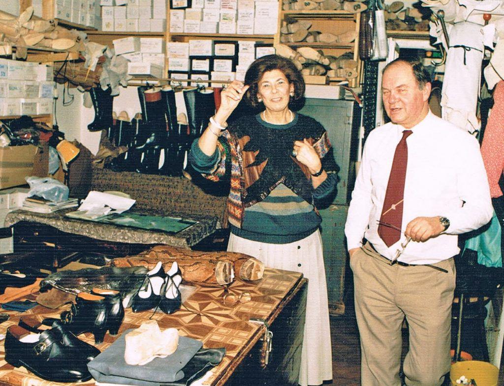 Jan II i Leokadia w pracowni, 1983 r.